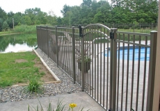 Aluminum Fence with arched gate