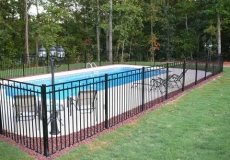 Flat Top with Spear pool fence