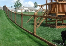 Chain link with wood frame