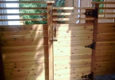 Custom wood gates