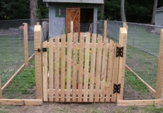 Welded wire on 4x4 posts and domed gate