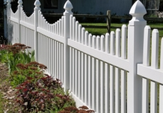 Concaved Vinyl pvc picket fence