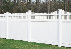 Huntington vinyl privacy fence